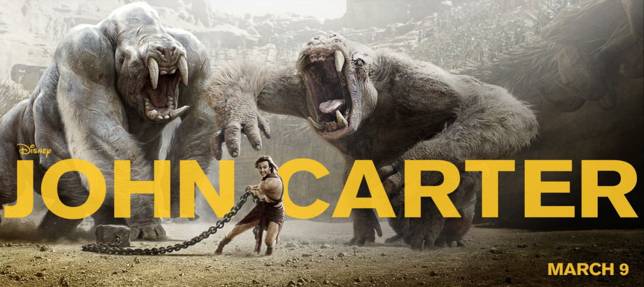 映画『ジョン・カーター JOHN CARTER』ポスター(4) ▼ポスター画像クリックで拡大します。