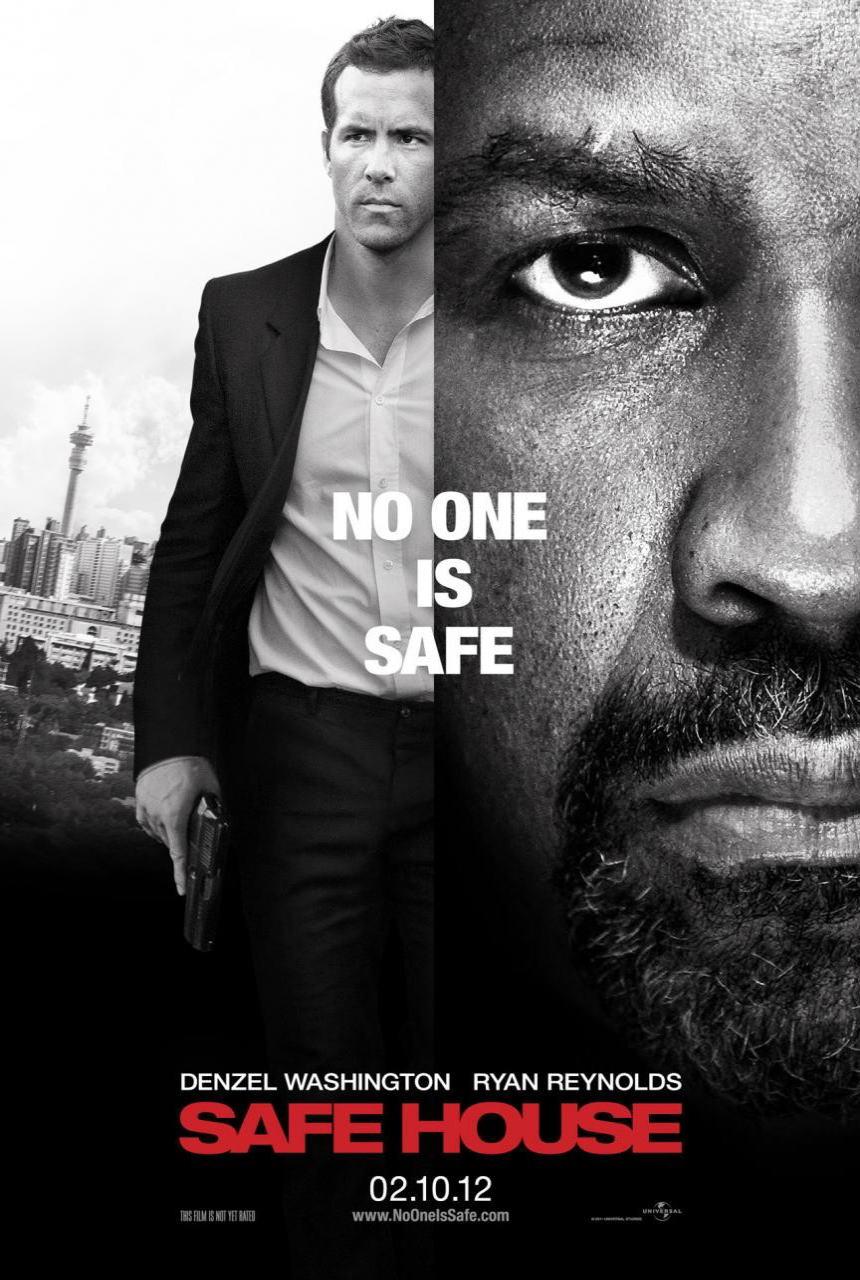 映画『デンジャラス・ラン SAFE HOUSE』ポスター(1) ▼ポスター画像クリックで拡大します。