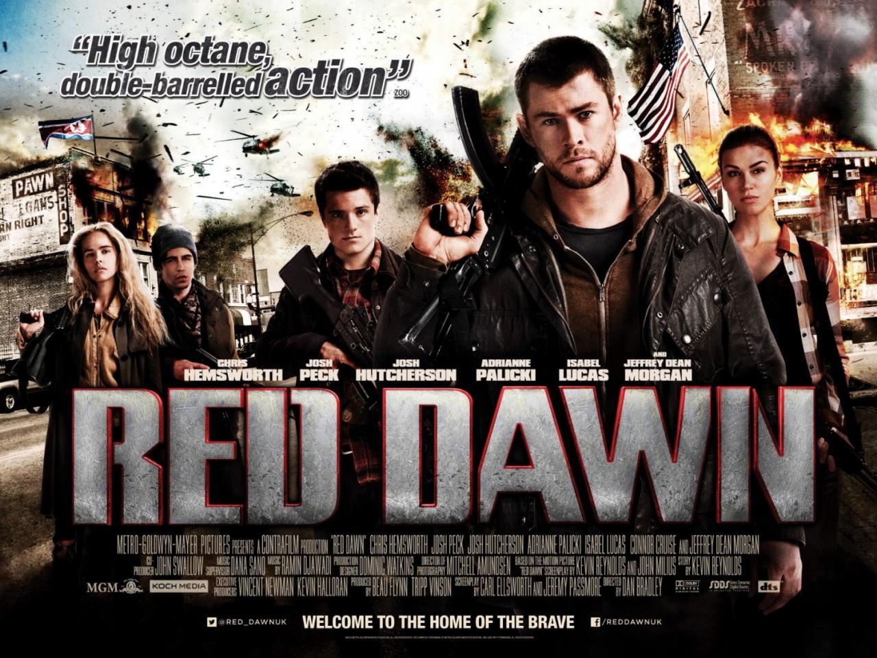 映画『レッド・ドーン (2012) RED DAWN』ポスター(4) ▼ポスター画像クリックで拡大します。