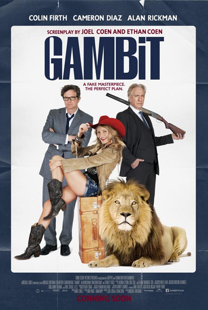 映画『モネ・ゲーム (2012) GAMBIT』ポスター(1)▼ポスター画像クリックで拡大します。