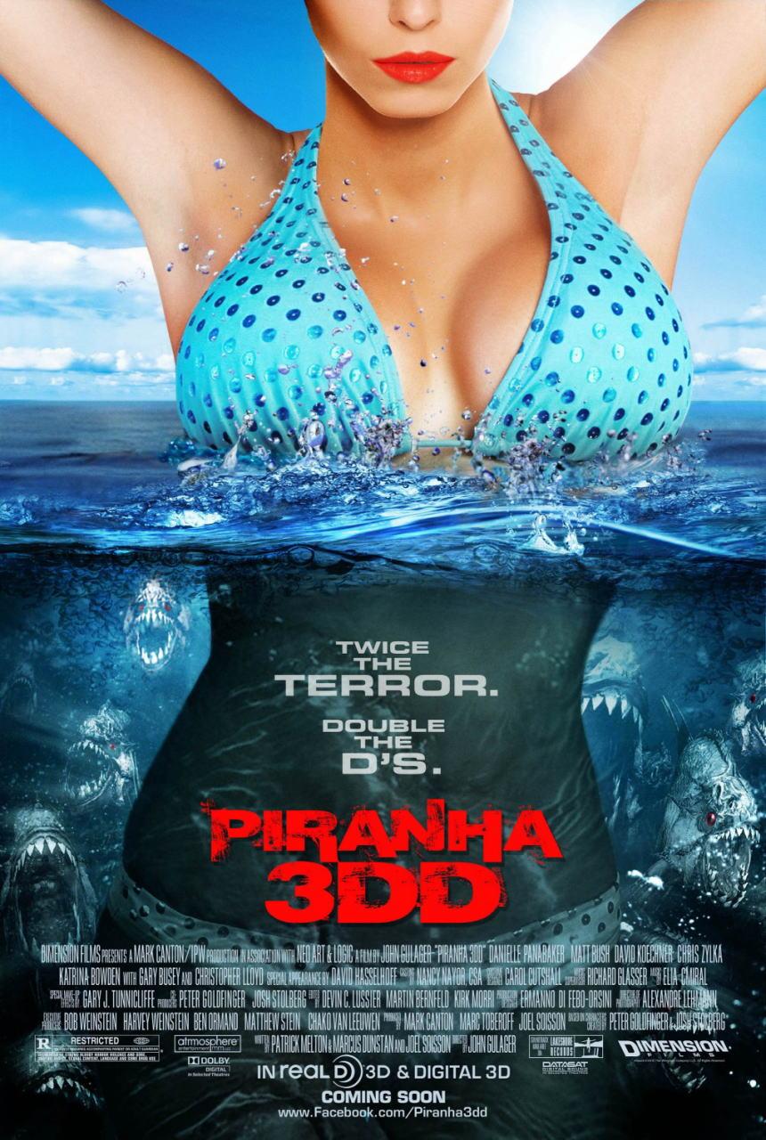 映画『ピラニア リターンズ PIRANHA 3DD』ポスター(1) ▼ポスター画像クリックで拡大します。