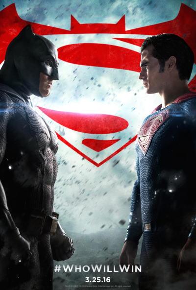 映画『バットマン vs スーパーマン ジャスティスの誕生 (2016) BATMAN v SUPERMAN: DAWN OF JUSTICE』ポスター(1)▼ポスター画像クリックで拡大します。