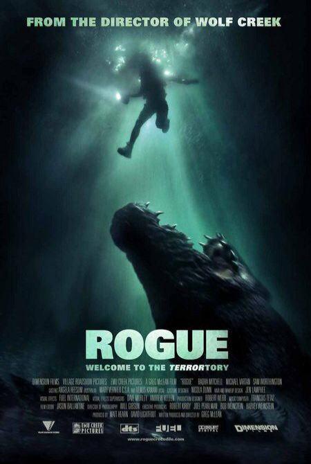 映画『マンイーター ROGUE』ポスター(1)▼ポスター画像クリックで拡大します。