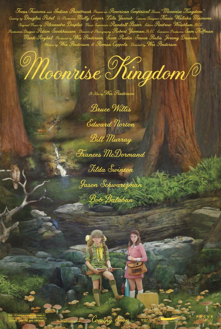 映画『ムーンライズ・キングダム MOONRISE KINGDOM』ポスター(2) ▼ポスター画像クリックで拡大します。