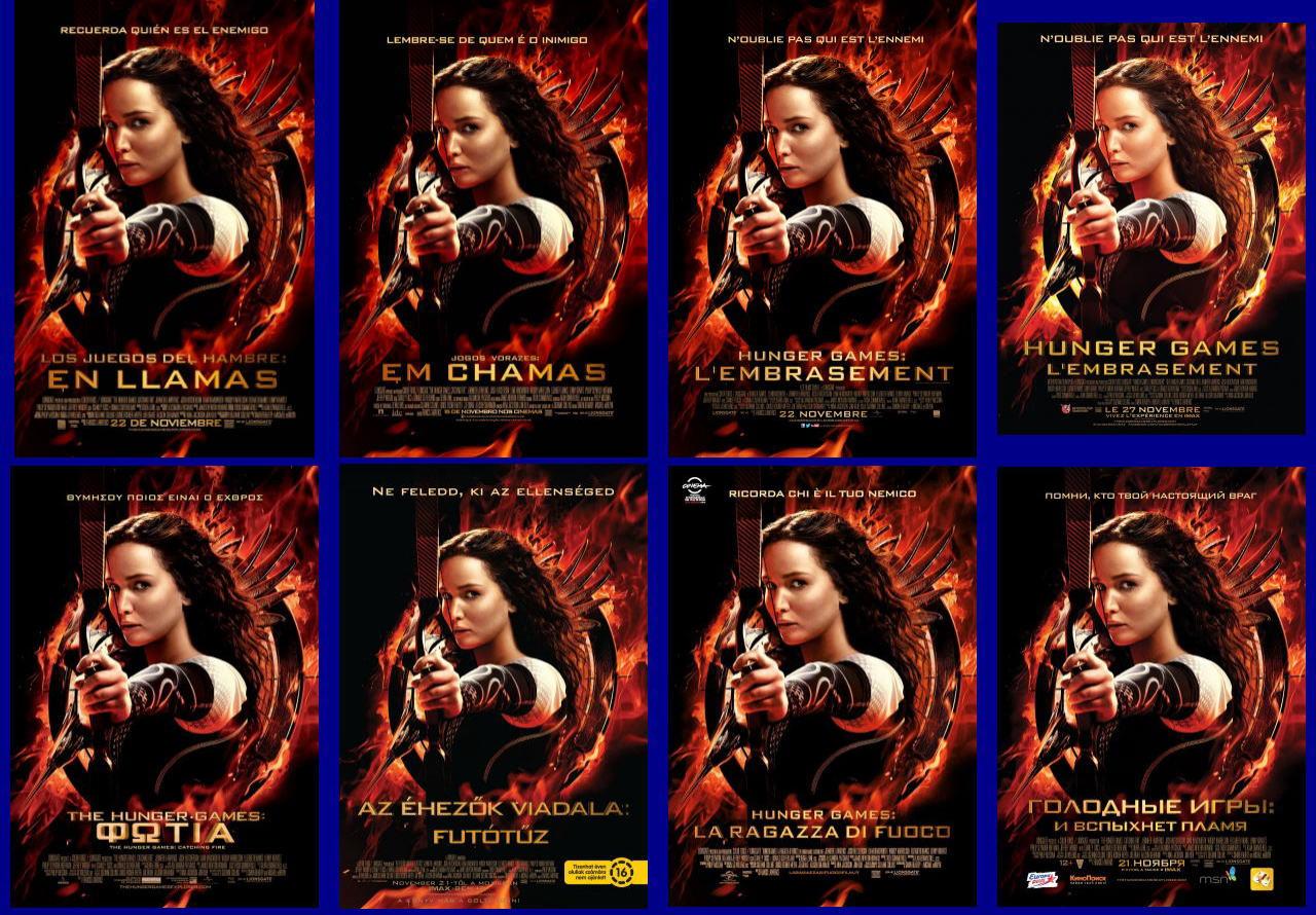 映画『ハンガー・ゲーム2 (2013) THE HUNGER GAMES: CATCHING FIRE』ポスター(5)▼ポスター画像クリックで拡大します。