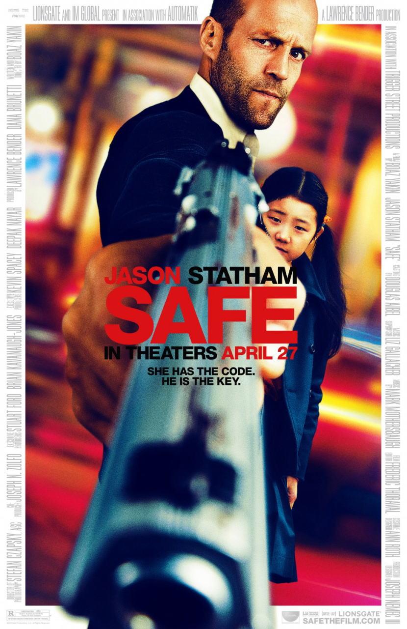 映画『SAFE/セイフ SAFE』ポスター(1) ▼ポスター画像クリックで拡大します。