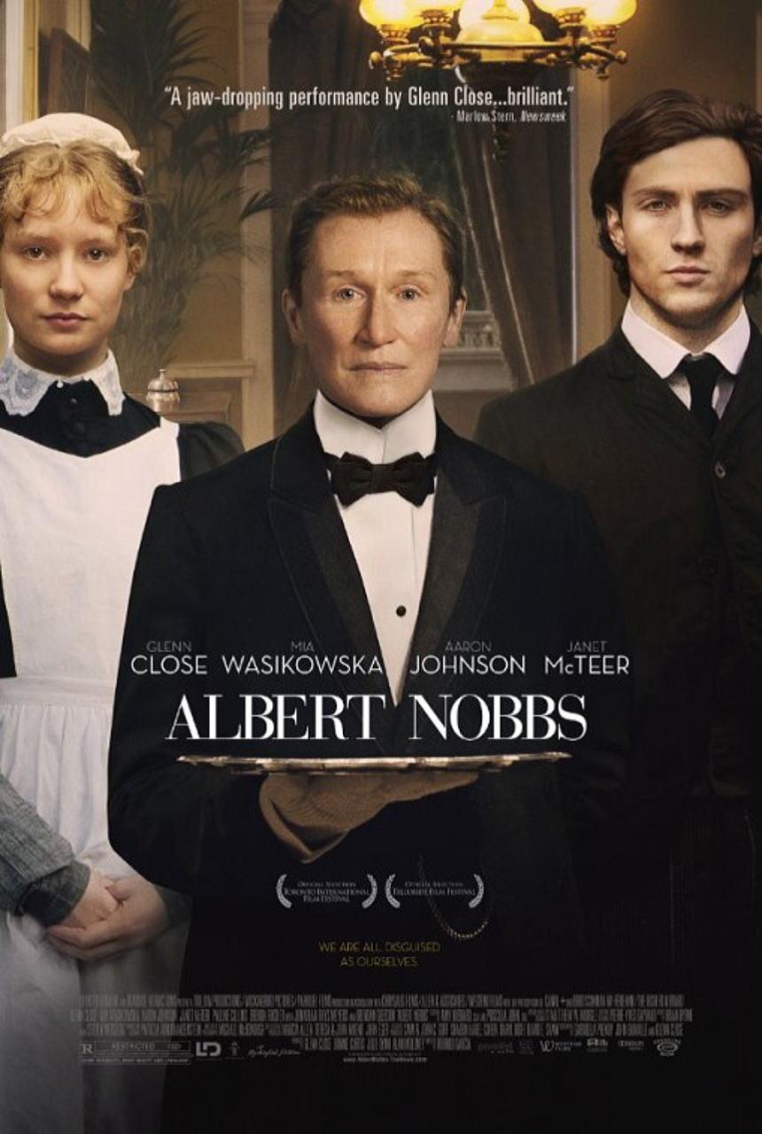 映画『アルバート氏の人生 ALBERT NOBBS』ポスター(1)▼ポスター画像クリックで拡大します。