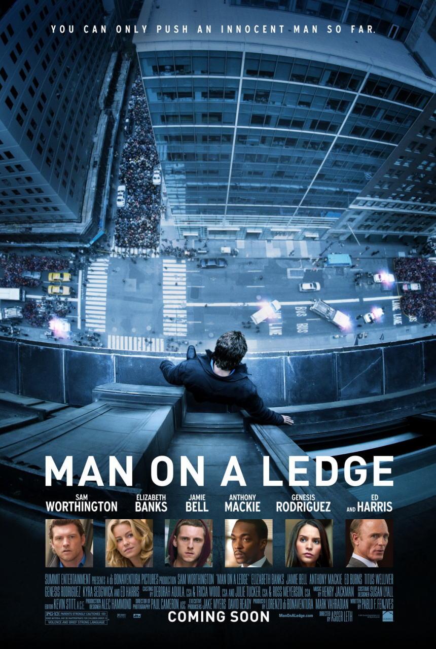 映画『崖っぷちの男 MAN ON A LEDGE』ポスター(1) ▼ポスター画像クリックで拡大します。