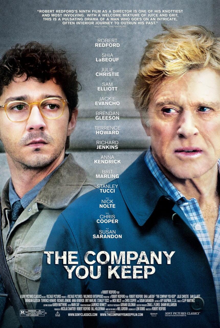 映画『ランナウェイ/逃亡者 (2012) THE COMPANY YOU KEEP』ポスター(1)▼ポスター画像クリックで拡大します。