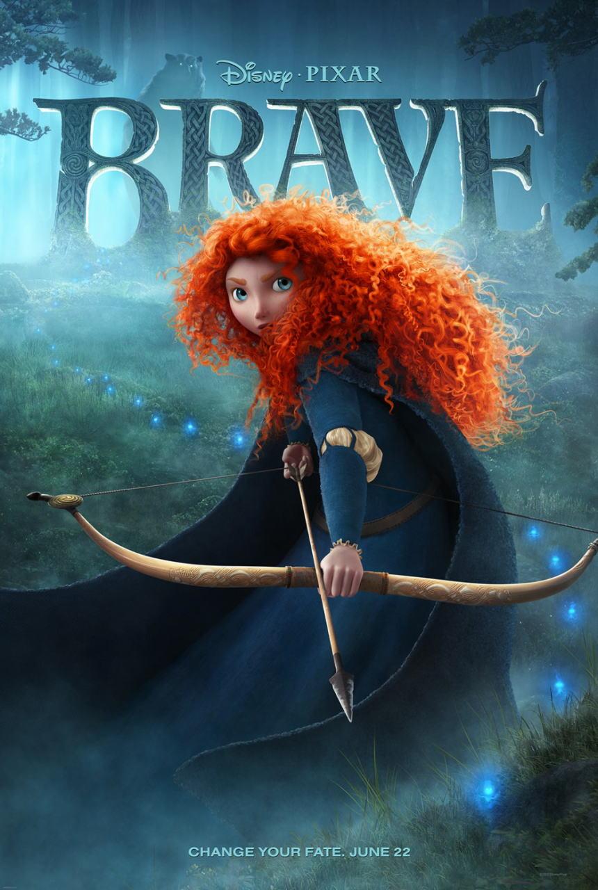 映画『メリダとおそろしの森 BRAVE』ポスター(1) ▼ポスター画像クリックで拡大します。