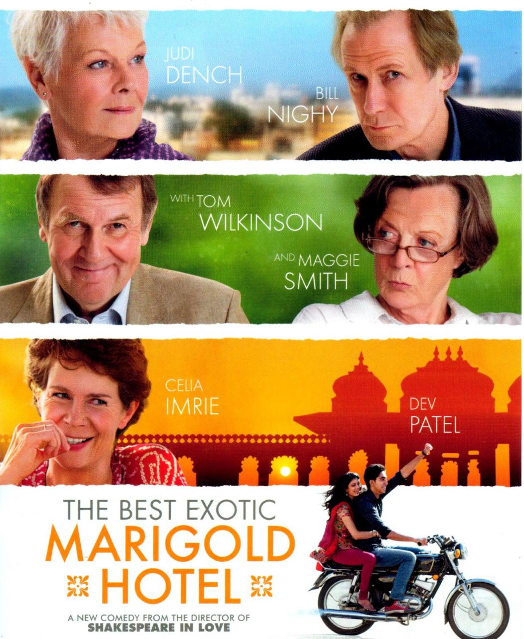 映画『マリーゴールド・ホテルで会いましょう THE BEST EXOTIC MARIGOLD HOTEL』ポスター(1)▼ポスター画像クリックで拡大します。