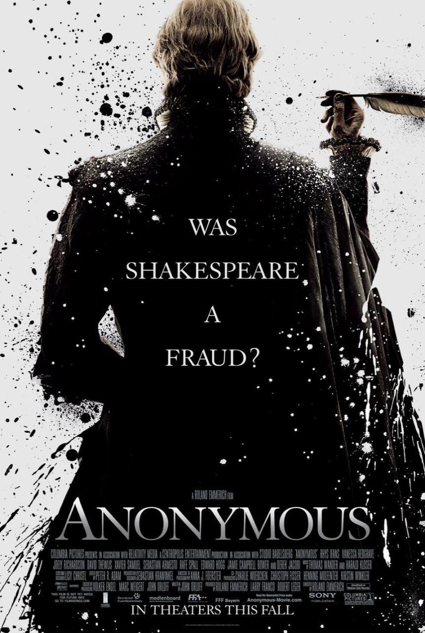 映画『もうひとりのシェイクスピア ANONYMOUS』ポスター(1)▼ポスター画像クリックで拡大します。