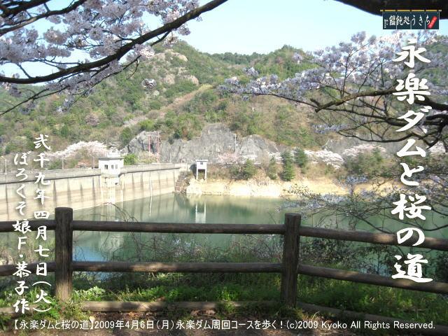 4/8(水)【永楽ダムと桜の道】2009年4月6日(月)F・恭子、永楽ダム周回コースを歩く!@キャツピ&めん吉の【ぼろくそパパの独り言】     ▼クリックで元の画像が拡大します。