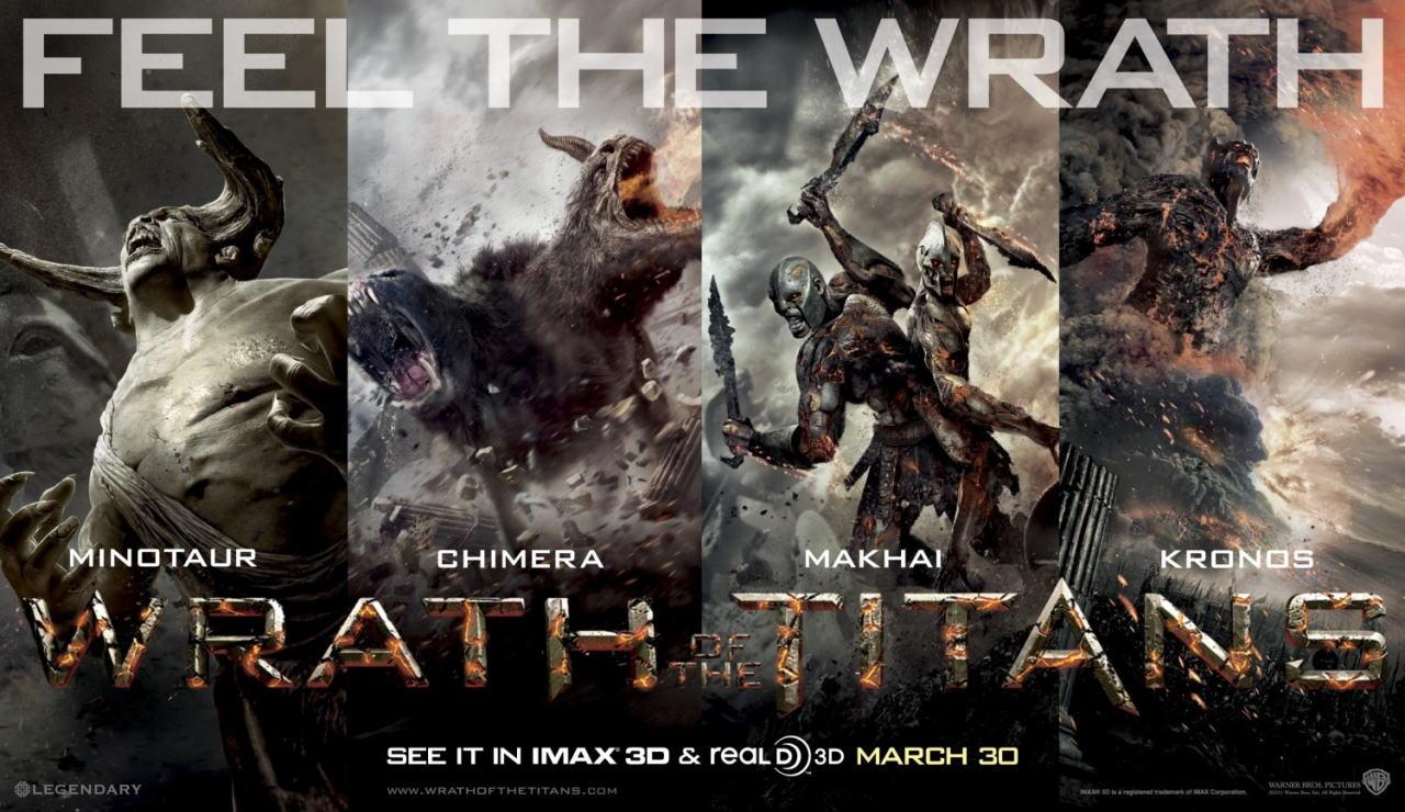 映画『タイタンの逆襲 WRATH OF THE TITANS』ポスター(3) ▼ポスター画像クリックで拡大します。