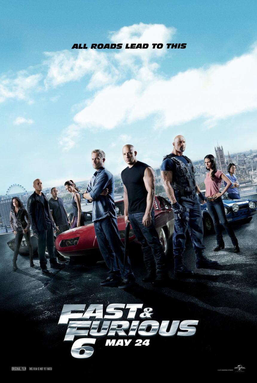 映画『ワイルド・スピード EURO MISSION (2013) FAST & FURIOUS 6』ポスター(1) ▼ポスター画像クリックで拡大します。