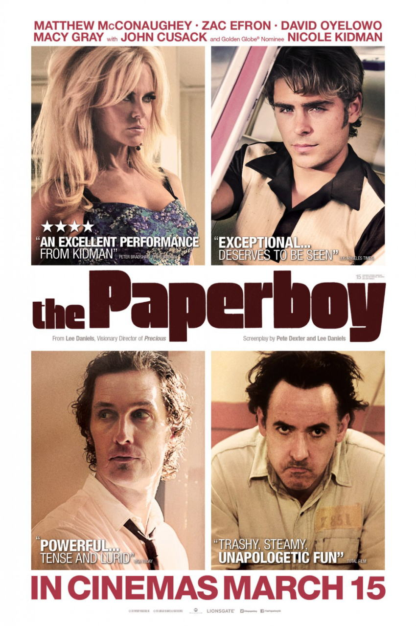 映画『ペーパーボーイ 真夏の引力 THE PAPERBOY』ポスター(3) ▼ポスター画像クリックで拡大します。