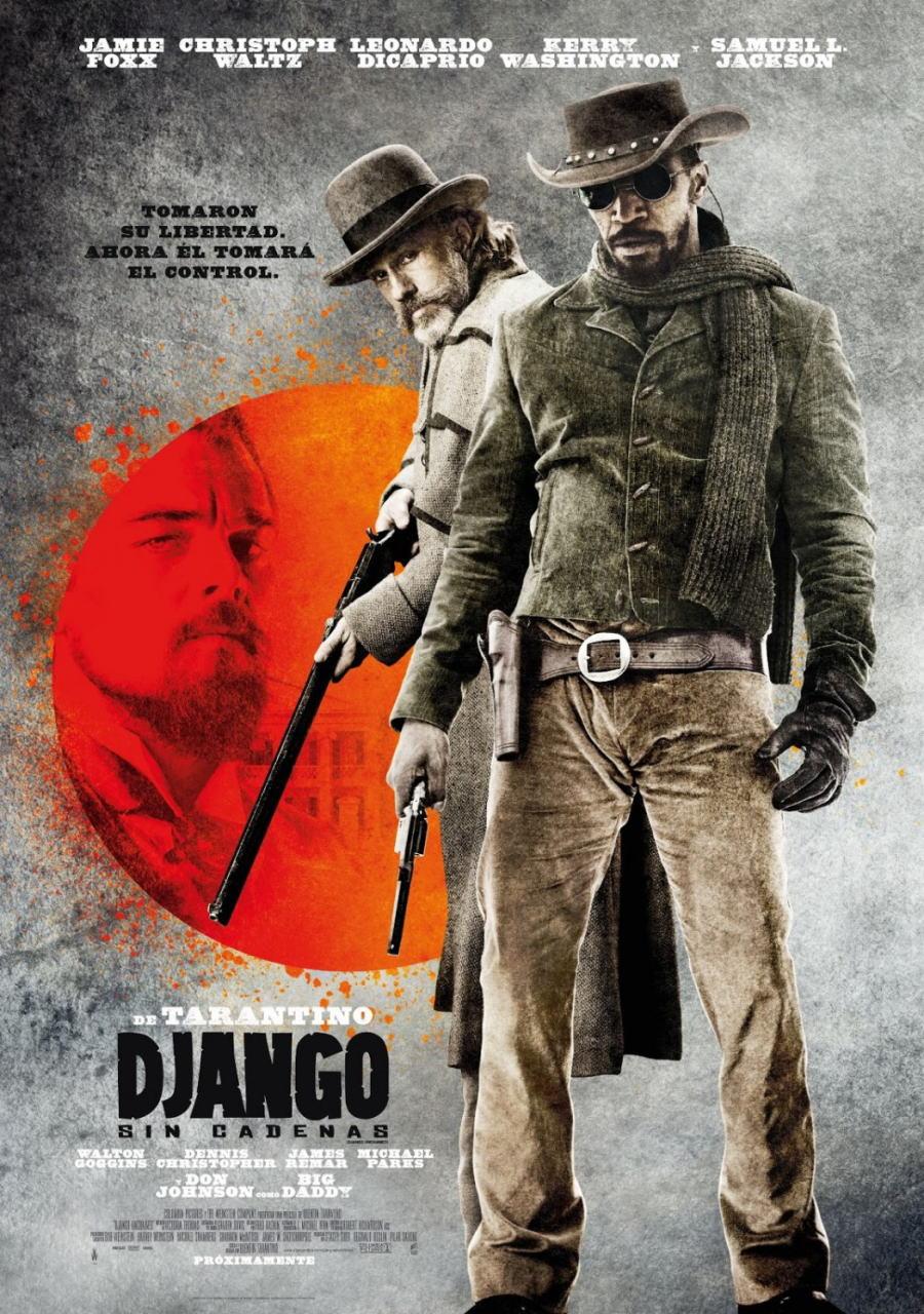 映画『ジャンゴ 繋がれざる者 (2012) DJANGO UNCHAINED』ポスター(2)▼ポスター画像クリックで拡大します。