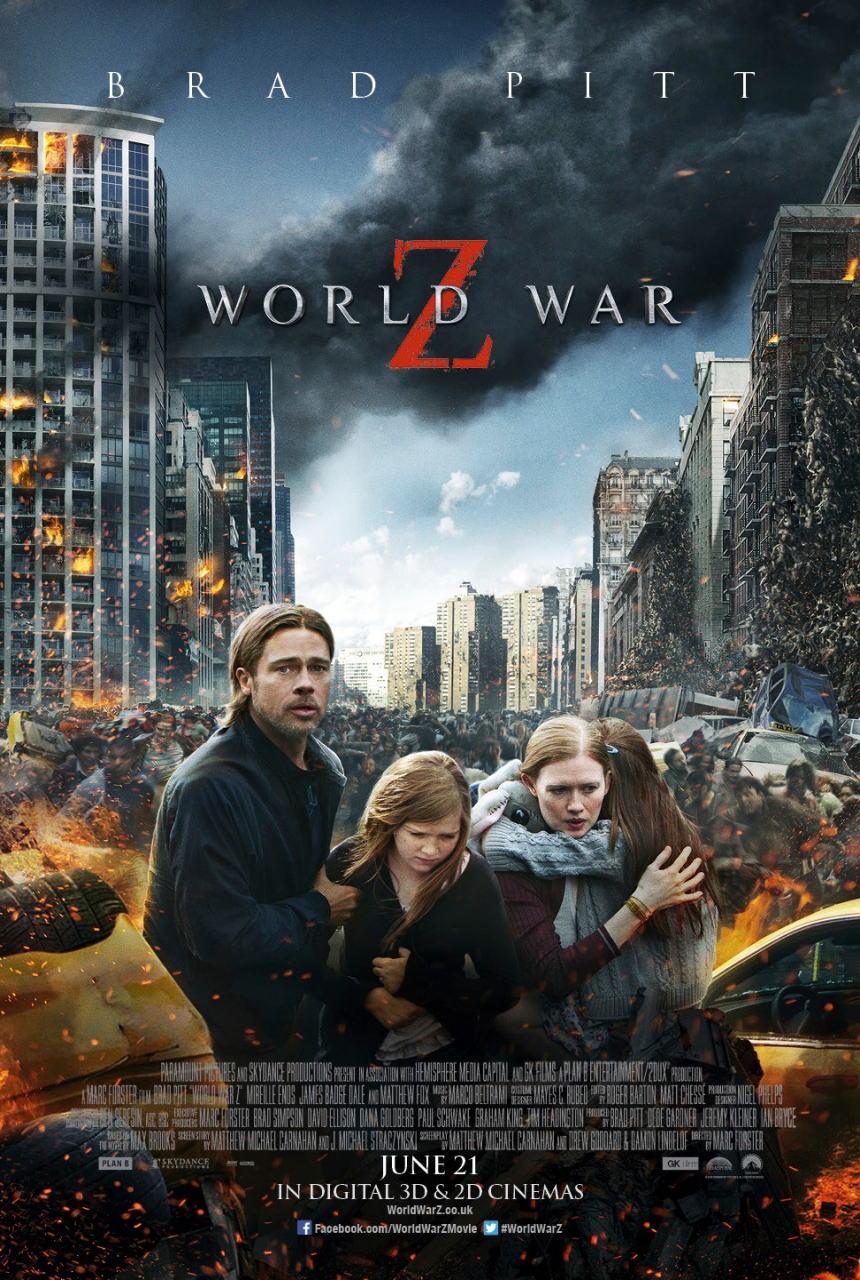 映画『ワールド・ウォーZ (2013) WORLD WAR Z』ポスター(3)▼ポスター画像クリックで拡大します。