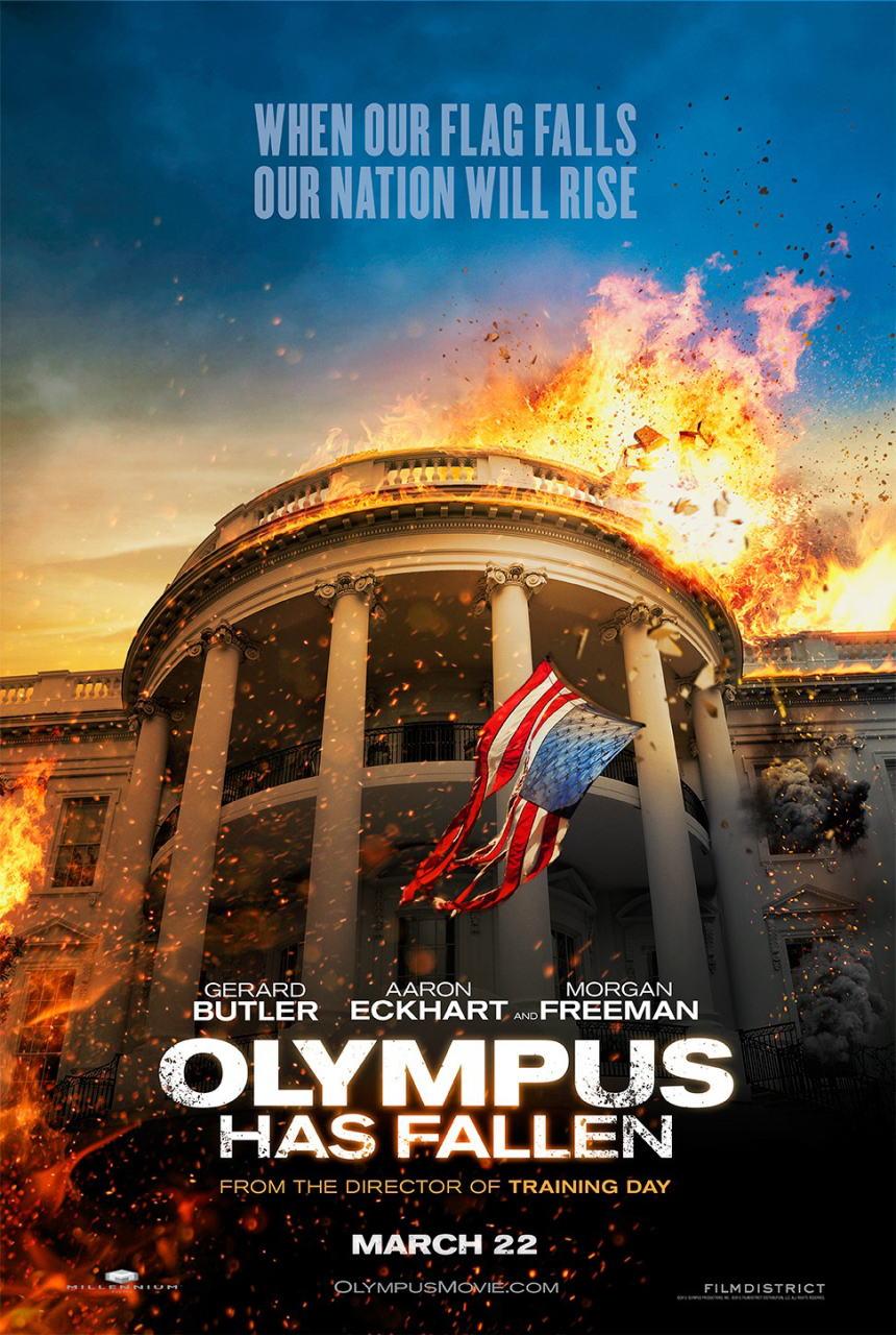映画『エンド・オブ・ホワイトハウス (2013) OLYMPUS HAS FALLEN』ポスター(1)▼ポスター画像クリックで拡大します。