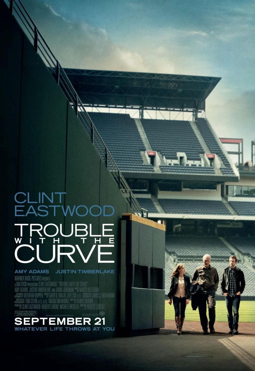 映画『人生の特等席 TROUBLE WITH THE CURVE』ポスター(2) ▼ポスター画像クリックで拡大します。
