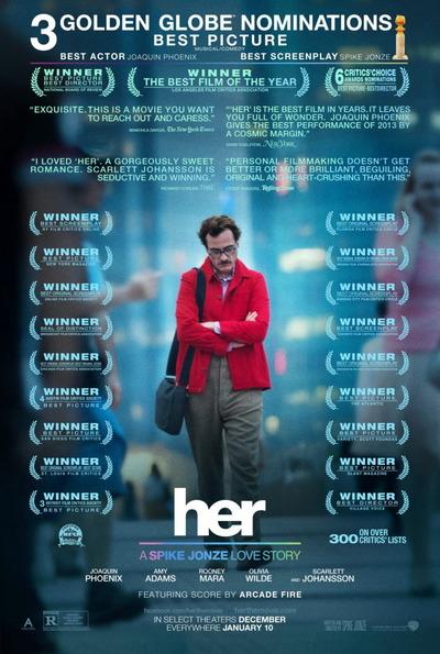 映画『her/世界でひとつの彼女 (2014) HER』ポスター(2) ▼ポスター画像クリックで拡大します。