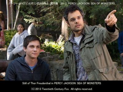 パーシー・ジャクソンとオリンポスの神々:魔の海のスタッフ画像(トール・フロイデンタール Thor Freudenthal 監督(左)とローガン・ラーマン Logan Lerman(右))▼画像クリックで640x480pxlsに拡大します。