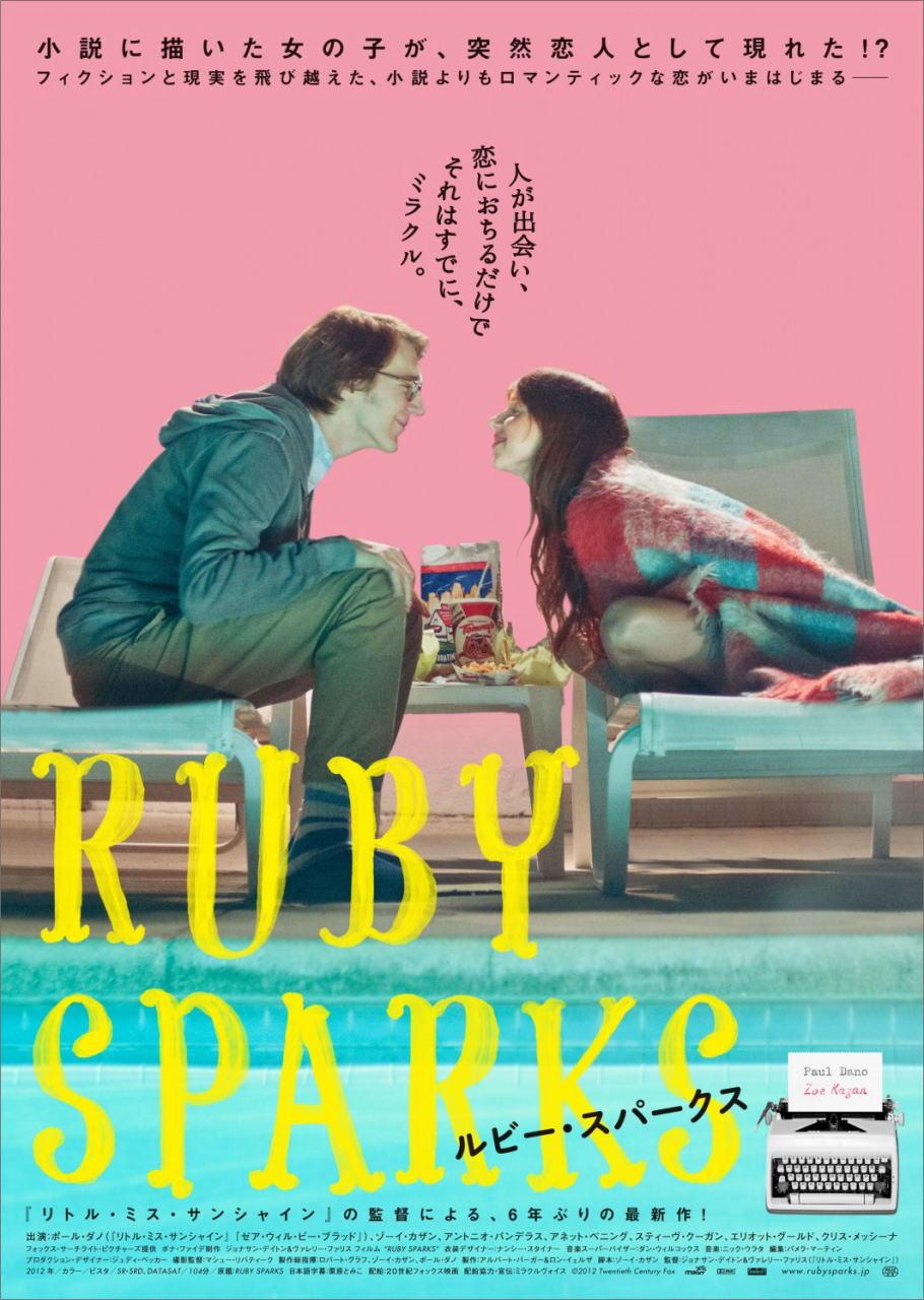 映画『ルビー・スパークス RUBY SPARKS』ポスター(2)▼ポスター画像クリックで拡大します。