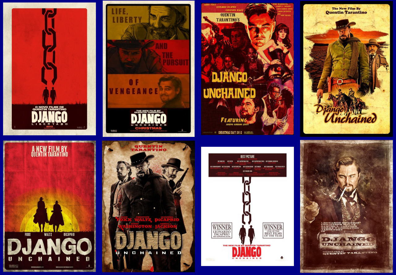 映画『ジャンゴ 繋がれざる者 (2012) DJANGO UNCHAINED』ポスター(10) ▼ポスター画像クリックで拡大します。