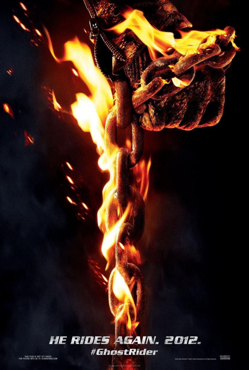 映画『ゴーストライダー2 GHOST RIDER: SPIRIT OF VENGEANCE』ポスター(2)▼ポスター画像クリックで拡大します。