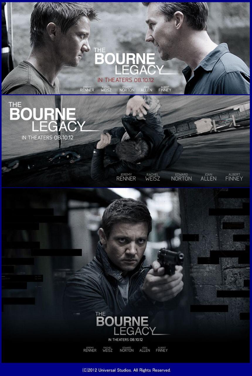 映画『ボーン・レガシー THE BOURNE LEGACY』ポスター(4)▼ポスター画像クリックで拡大します。