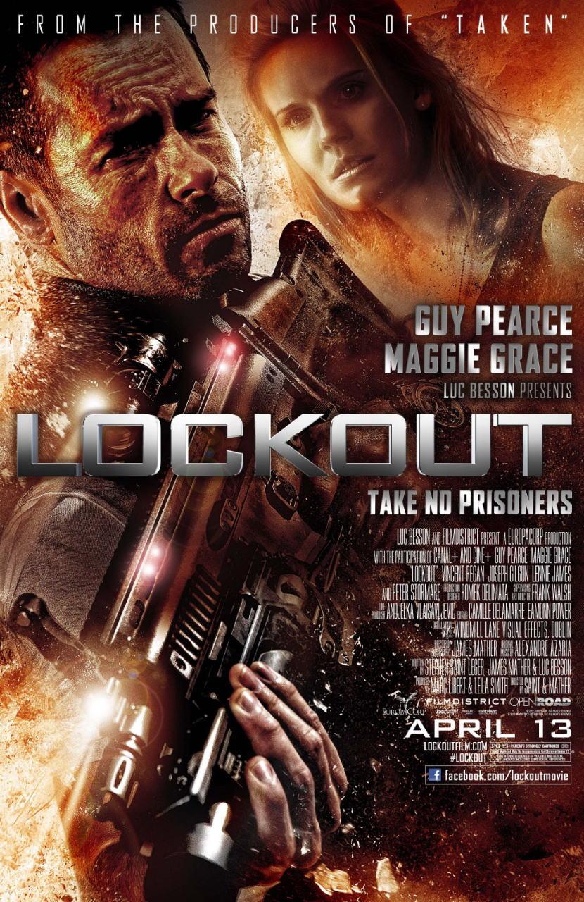 映画『ロックアウト LOCKOUT』ポスター(1)▼ポスター画像クリックで拡大します。