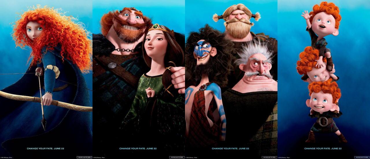 映画『メリダとおそろしの森 BRAVE』ポスター(5) ▼ポスター画像クリックで拡大します。