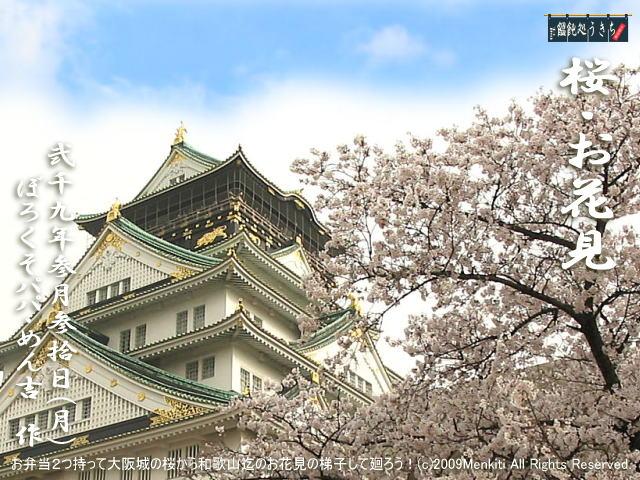 3/30(月)【桜・お花見(1)】お弁当2つ持って大阪城の桜から始まって和歌山迄のお花見の梯子をして廻ろう! @キャツピ&めん吉の【ぼろくそパパの独り言】      ▼クリックで元の画像が拡大します。