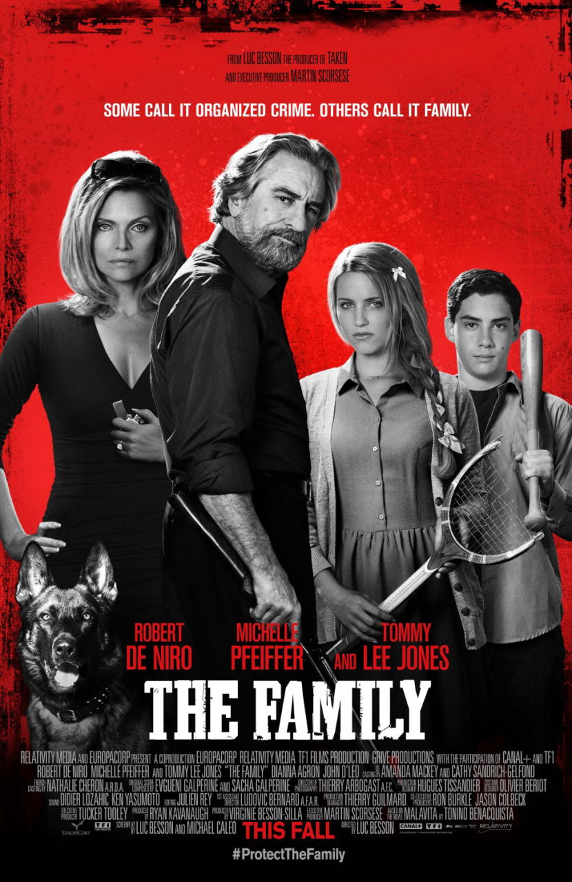映画『マラヴィータ (2013) THE FAMILY (英題) / MALAVITA (仏題)』ポスター(1) ▼ポスター画像クリックで拡大します。