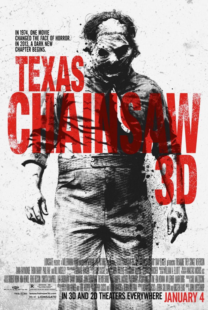映画『飛びだす 悪魔のいけにえ レザーフェイス一家の逆襲 TEXAS CHAINSAW 3D』ポスター(3)▼ポスター画像クリックで拡大します。