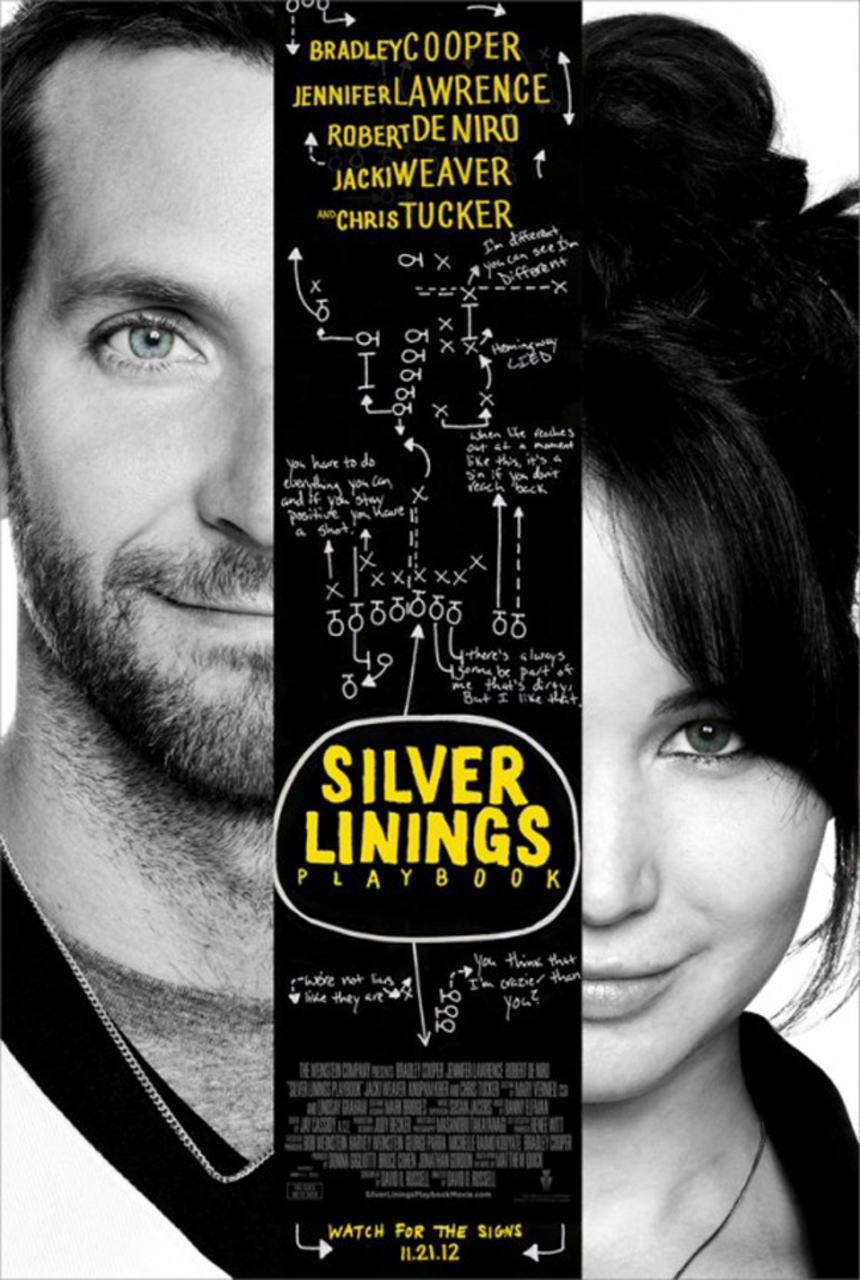 映画『世界にひとつのプレイブック SILVER LININGS PLAYBOOK』ポスター(1)▼ポスター画像クリックで拡大します。