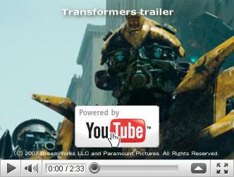 ※クリックでYouTube『トランスフォーマー TRANSFORMERS』予告編へ