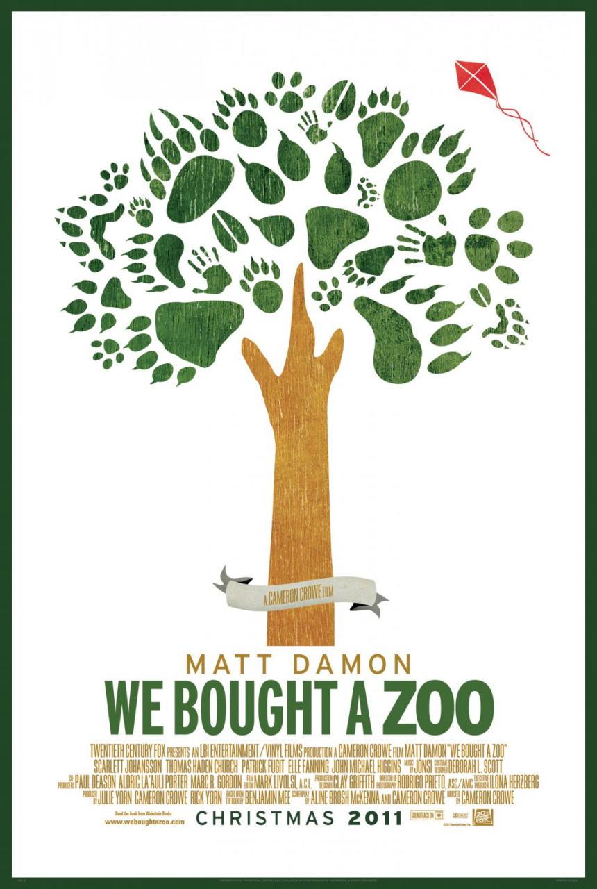 映画『幸せへのキセキ WE BOUGHT A ZOO』ポスター(2)▼ポスター画像クリックで拡大します。