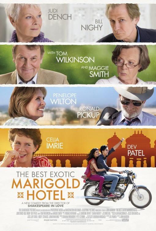 映画『マリーゴールド・ホテルで会いましょう THE BEST EXOTIC MARIGOLD HOTEL』ポスター(4)▼ポスター画像クリックで拡大します。