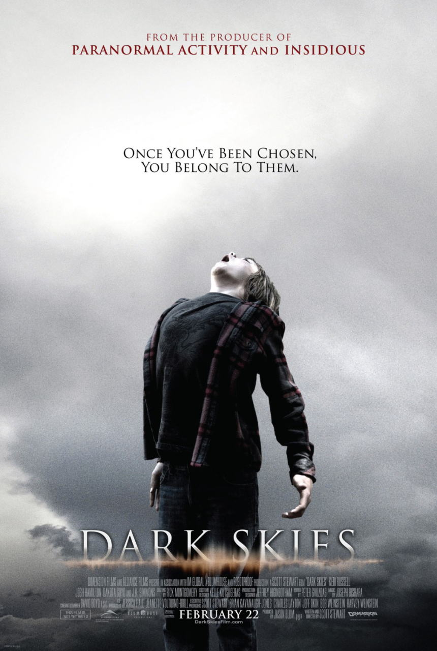 映画『ダークスカイズ (2013) DARK SKIES』ポスター(2)▼ポスター画像クリックで拡大します。