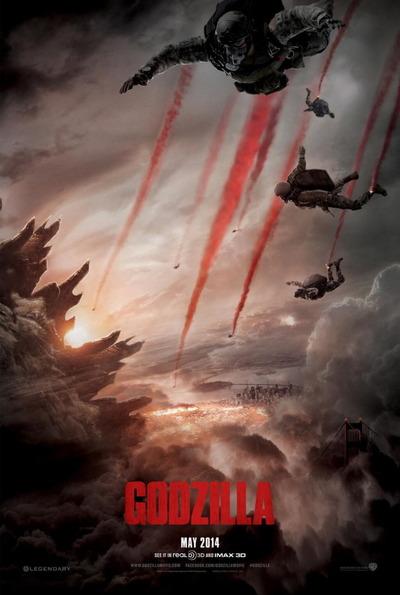 映画『GODZILLA ゴジラ (2014) GODZILLA』ポスター(1)▼ポスター画像クリックで拡大します。
