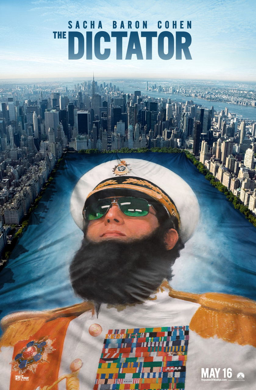 映画『ディクテーター 身元不明でニューヨーク THE DICTATOR』ポスター(5)▼ポスター画像クリックで拡大します。