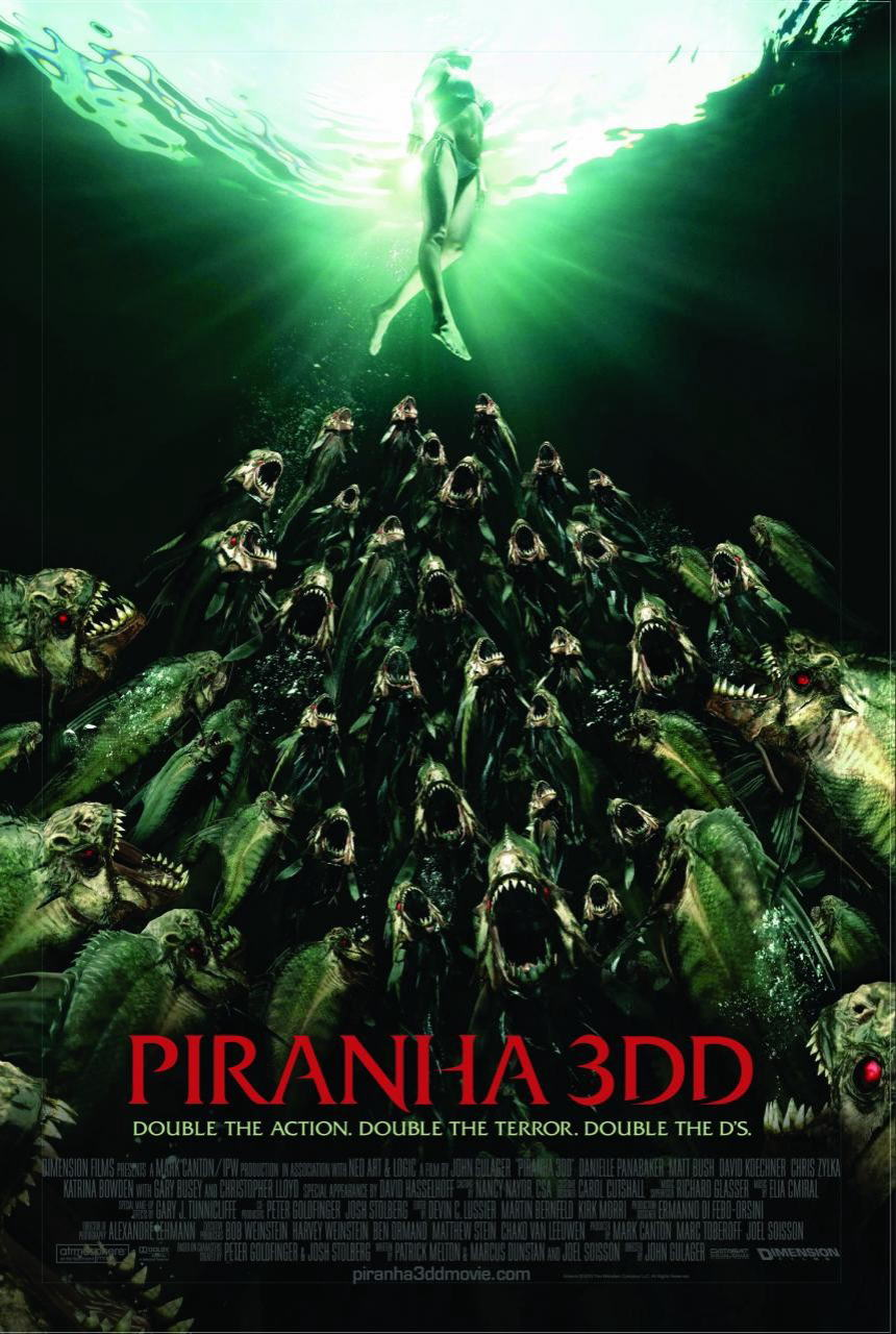 映画『ピラニア リターンズ PIRANHA 3DD』ポスター(3)▼ポスター画像クリックで拡大します。