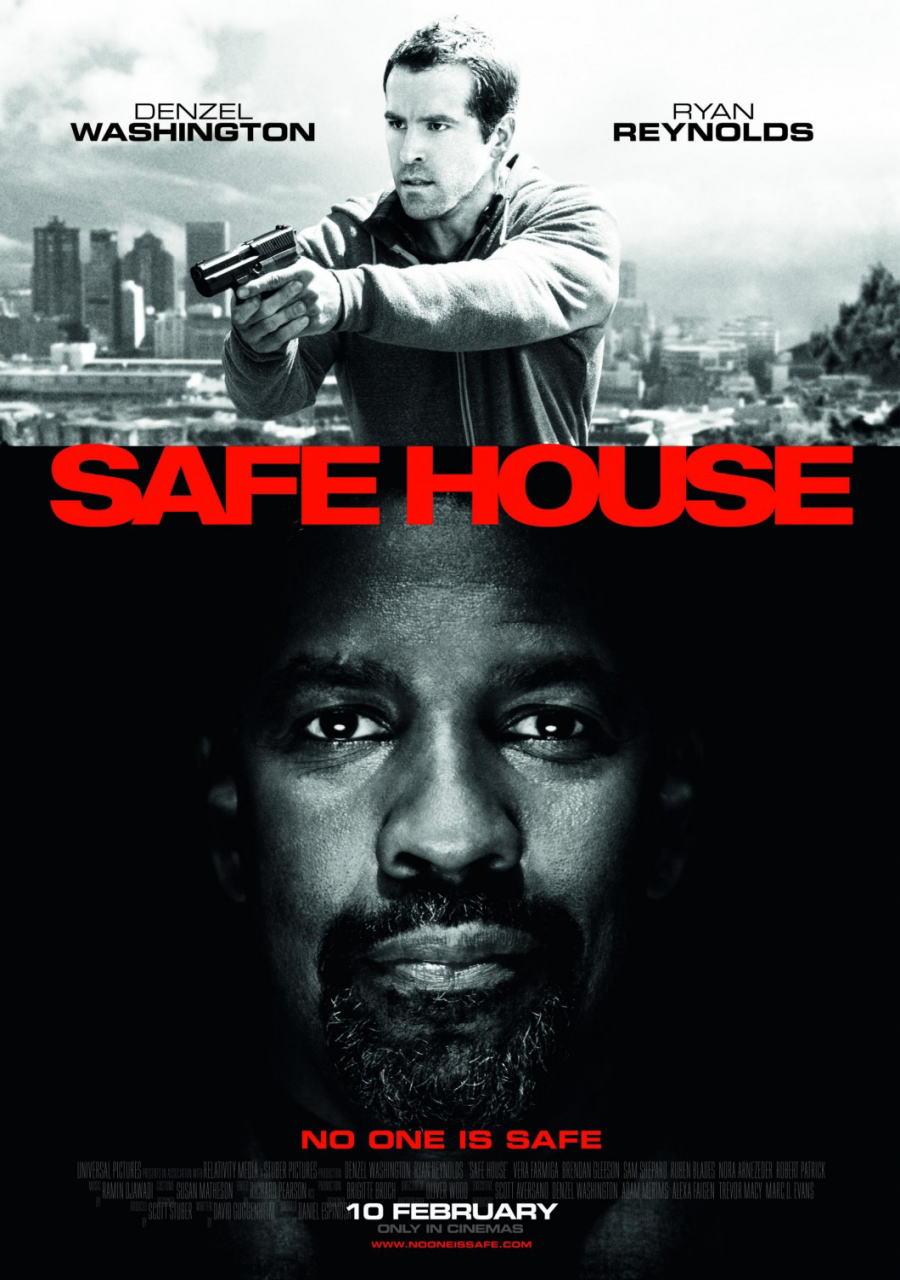 映画『デンジャラス・ラン SAFE HOUSE』ポスター(2) ▼ポスター画像クリックで拡大します。