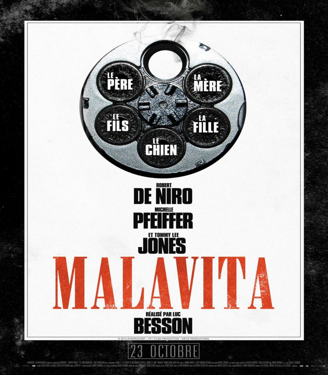 映画『マラヴィータ (2013) THE FAMILY (英題) / MALAVITA (仏題)』ポスター(4) ▼ポスター画像クリックで拡大します。