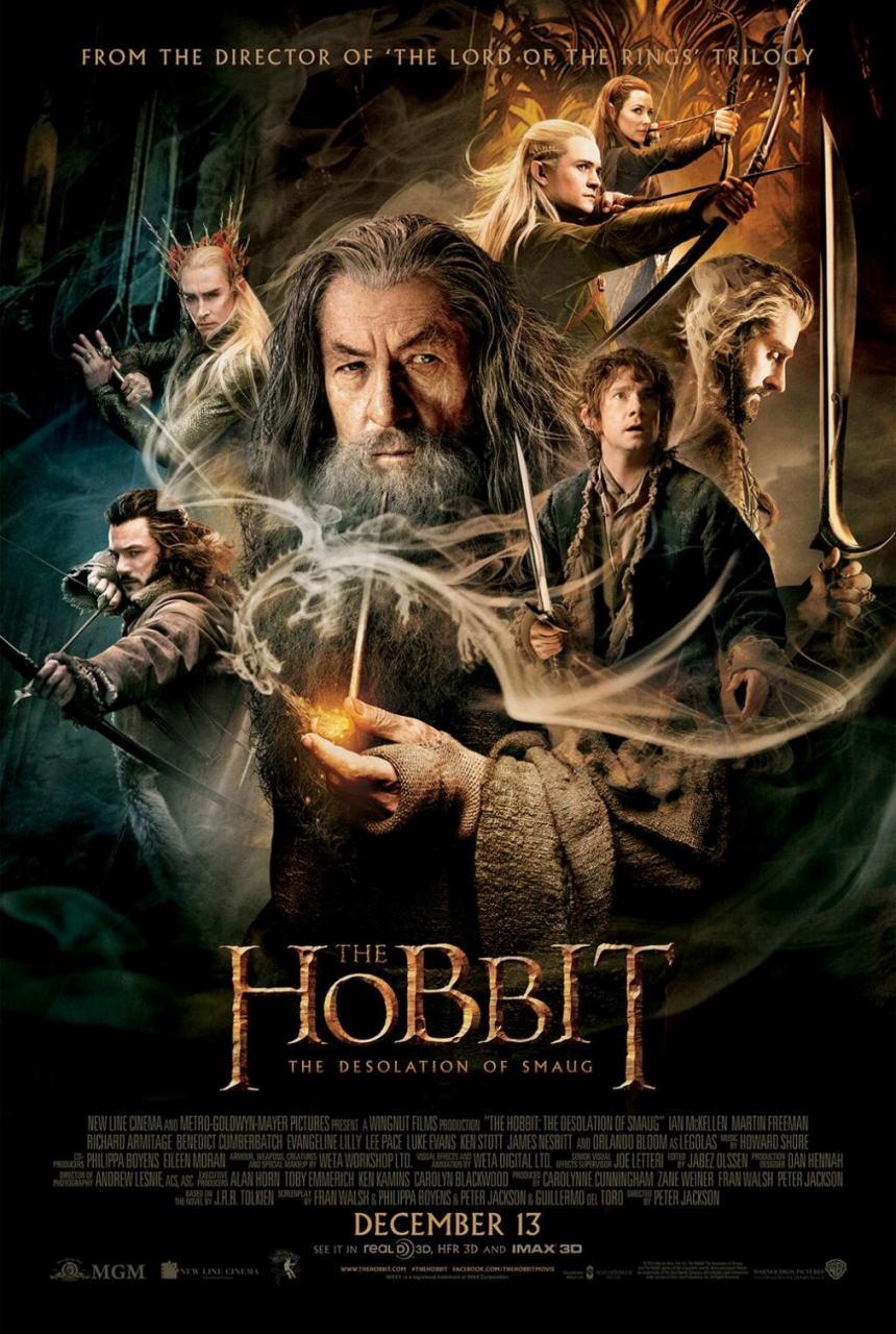 映画『ホビット 竜に奪われた王国 (2013) THE HOBBIT: THE DESOLATION OF SMAUG』ポスター(1)▼ポスター画像クリックで拡大します。