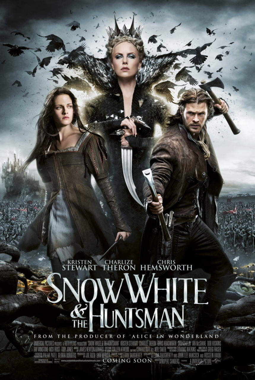 映画『スノーホワイト SNOW WHITE AND THE HUNTSMAN』ポスター(1) ▼ポスター画像クリックで拡大します。