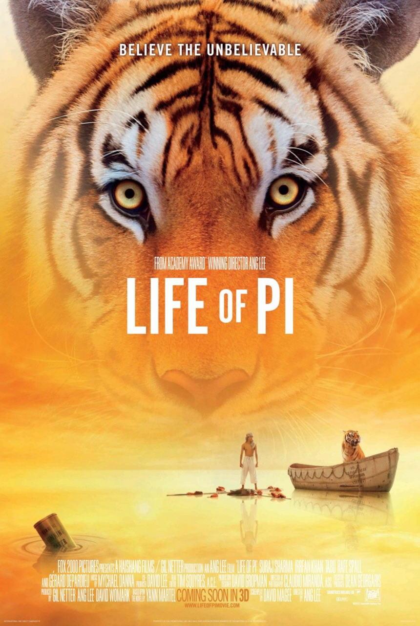 映画『ライフ・オブ・パイ/トラと漂流した227日 (2012) LIFE OF PI』ポスター(1)▼ポスター画像クリックで拡大します。