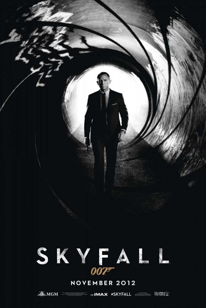 映画『007 スカイフォール SKYFALL』ポスター(1)▼ポスター画像クリックで拡大します。