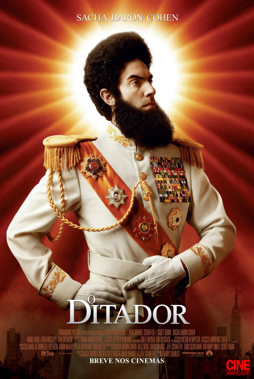 映画『ディクテーター 身元不明でニューヨーク THE DICTATOR』ポスター(3)▼ポスター画像クリックで拡大します。